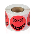 "1-1/2"" Do Not Bend - Circle Stickers"