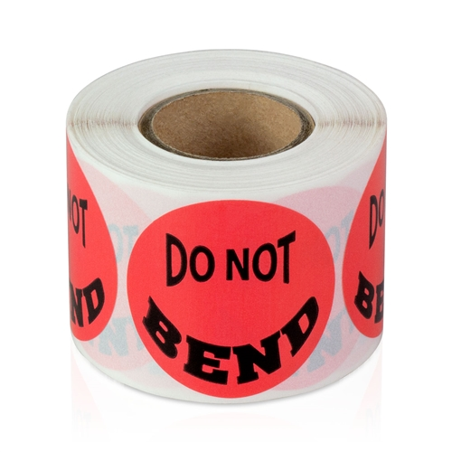 Do Not Bend 800 Labels Large Stickers