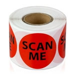 "1-1/2"" Scan Me - Circle Stickers"