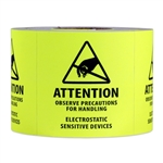 2 x 2 inch - Attention - Observe Precautions - Electrostatic Sensitive Device