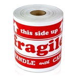 6 x 4 inch - Fragile Handle With Care - This Side Up Stickers