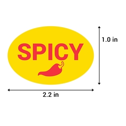 2.2 x 1 inch Spicy Stickers (Yellow)