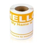 "2-5/16"" x 4 Hello My Name is Colored Name Badges - Orange"