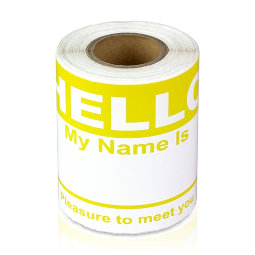 colored name badges