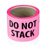 "2"" x 3"" Do Not Stack-Fluorescent - Stickers"