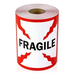 "4"" x 4"" Fragile - Stickers"