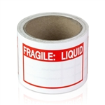 3 x 2 inch - Fragile Stickers- Liquid - Warning Stickers