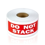 4 x 1.5 inch - Do Not Stack Stickers - Warning Stickers
