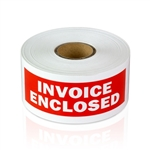 4 x 1.5 inch - Invoice Enclosed Stickers - Shipping Stickers