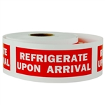 4 x 1.5 inch - Refrigerate Upon Arrival - Shipping Stickers