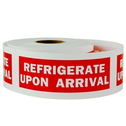 "1-1/2"" x 4"" Refrigerate Upon Arrival - Stickers"