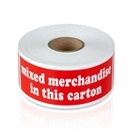 4 x 1.5 inch -  Mixed Merchandise in this Carton Stickers - Shipping Stickers