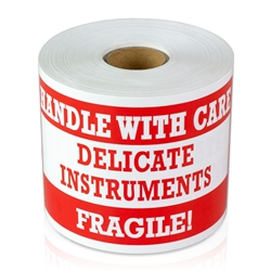 5 x 3 inch - Fragile Stickers - Handle With Care - Delicate Instruments Stickers - Warning Stickers