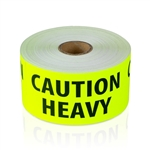 "2"" x 4"" Caution Heavy - Fluorescent - Stickers"