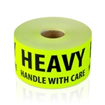 "2"" x 4"" Heavy Handle with Care - Fluorescent - Stickers"