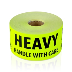 4 x 2 inch - Heavy Handle with Care Stickers - Shipping Stickers