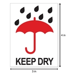 "4"" x 3"" Keep Dry - Stickers"