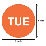 1 inch - Days of the Week: Tuesday Stickers