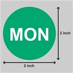 2 inch - Days of the Week: Monday Stickers
