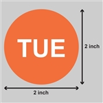 2 inch - Days of the Week: Tuesday Stickers