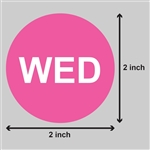 2 inch - Days of the Week: Wednesday Stickers