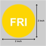 2 inch - Days of the Week: Friday Stickers