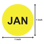 1 inch - Months of the Year: January Stickers