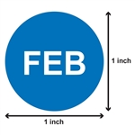 1 inch - Months of the Year: February Sticker