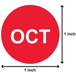 1 inch - Months of the Year: October Stickers