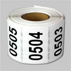 "1.5 x 1 inch - ""0501 to 1000"" Consecutive Number Stickers - Inventory Stickers"