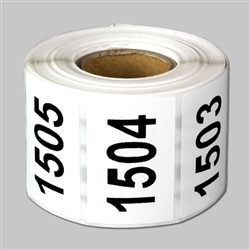 "1.5 x 1 inch - ""1501 to 2000"" Consecutive Number Stickers - Inventory Stickers"