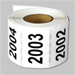 "Consecutive Number Labels Self Adhesive Stickers ""2001 to 2500"" (White Black / 1.5"" x 1"")"