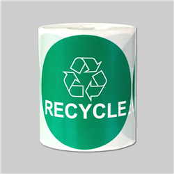 3 inch - Recycle Stickers -  Circle Stickers