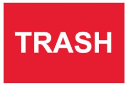 3 x 2 inch - Trash Stickers - Disposal and Trash Stickers