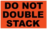5 x 3 inch - Do Not Double Stack Sticker - Shipping Stickers