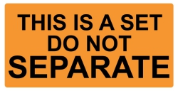 2 x 1 inch - Do Not Separate - This is a Set Stickers - Shipping Stickers