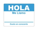 4 x 2.31 inch - Hola Sticker ( Sky Blue ) - Name Tags