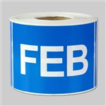 Months of the year: February Sticker