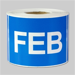 3 x 2 inch - Months of the year: February Stickers