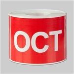 3 x 2 inch - Months of the year: October Stickers