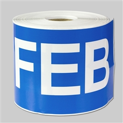 6 x 3 inch - Months of the year: February Stickers