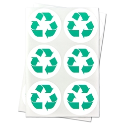 1.5 inch - Recycle Stickers - Trash and Disposal Stickers