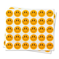 0.5 inch - Happy Face Stickers - Circle Stickers