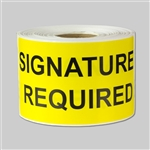 4 x 2 inch - Signature Required Sticker - Shipping Stickers