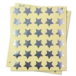 0.75 inch - Silver Star Stickers