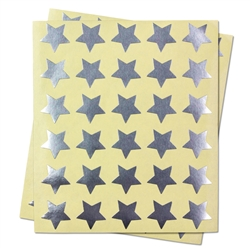 "Silver Star Labels Self Adhesive Stickers for Teacher Supplies / Classroom (Silver / .75"" )"