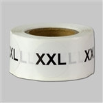 0.75 inch - Size XXL | XX-Large Stickers - Sizing Stickers