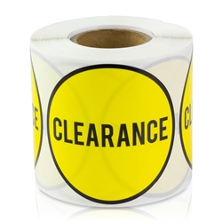 Clearance Sticker Labels- Yellow