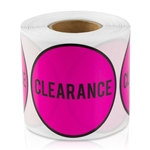 2 inch - Clearance Stickers ( Pink ) - Pricing Stickers