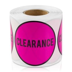 Clearance Sticker Labels - Pink